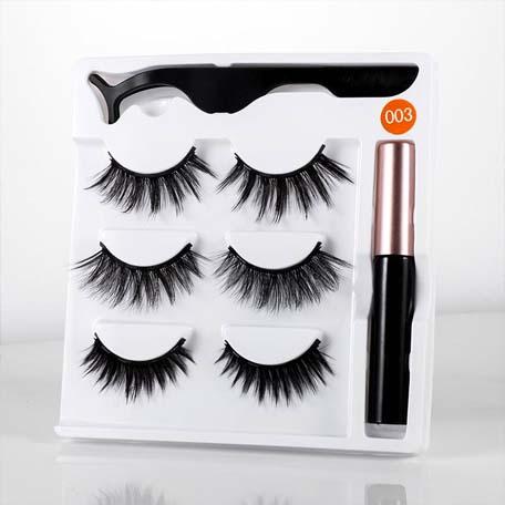 Three pairs magnetic eyelashes